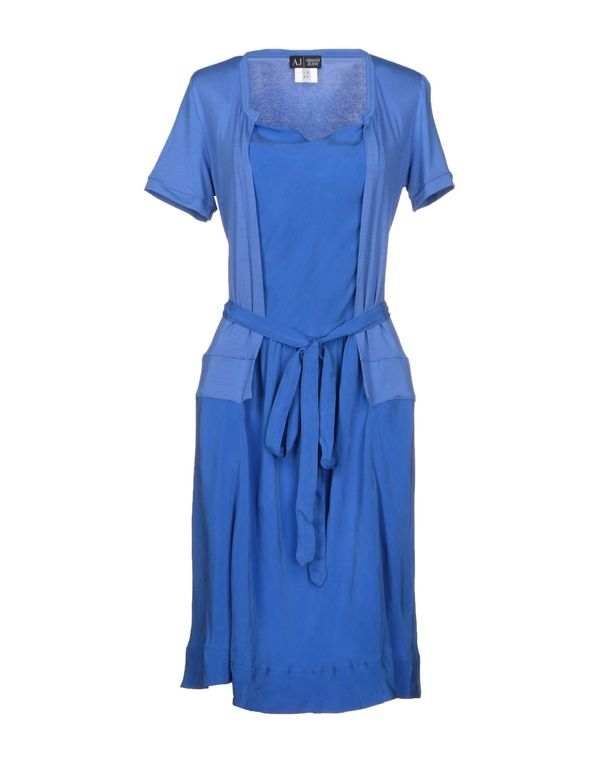 蓝色 ARMANI JEANS 短款连衣裙