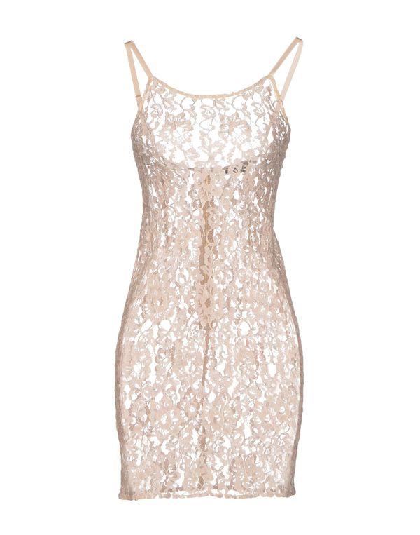 沙色 ALICE+OLIVIA 短款连衣裙