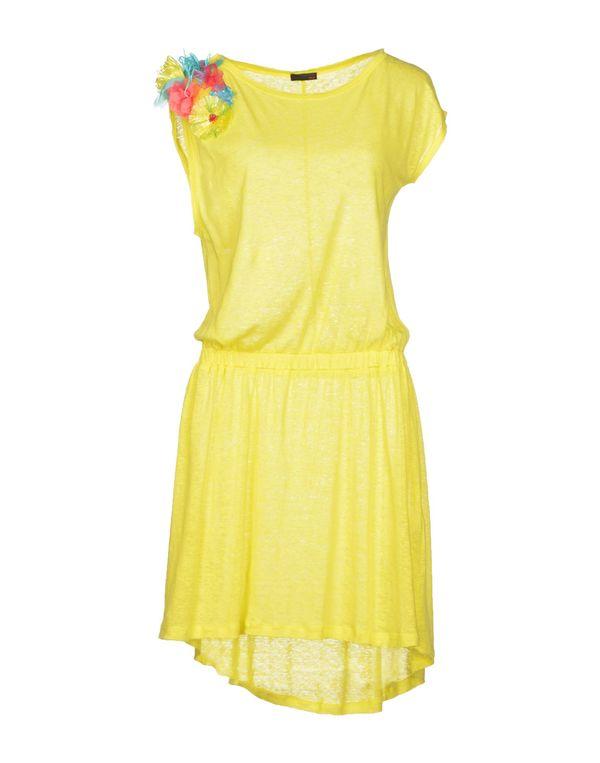 黄色 PINKO SKIN 短款连衣裙
