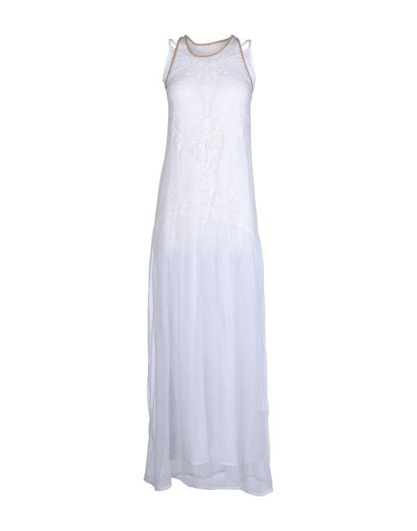 白色 SUOLI 长款连衣裙