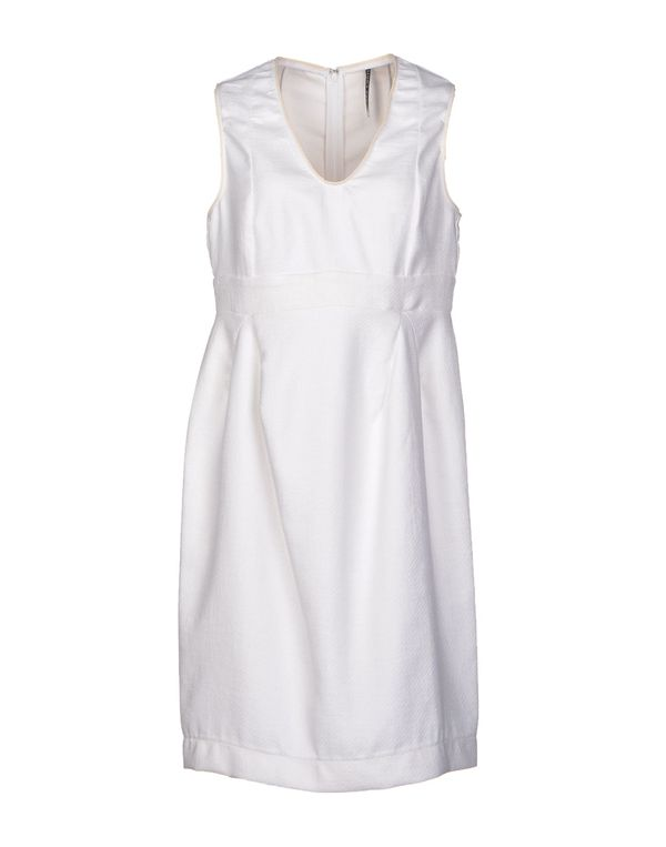 白色 LIVIANA CONTI 及膝连衣裙