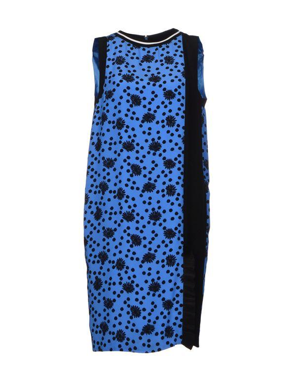 中蓝 EMANUEL UNGARO 及膝连衣裙
