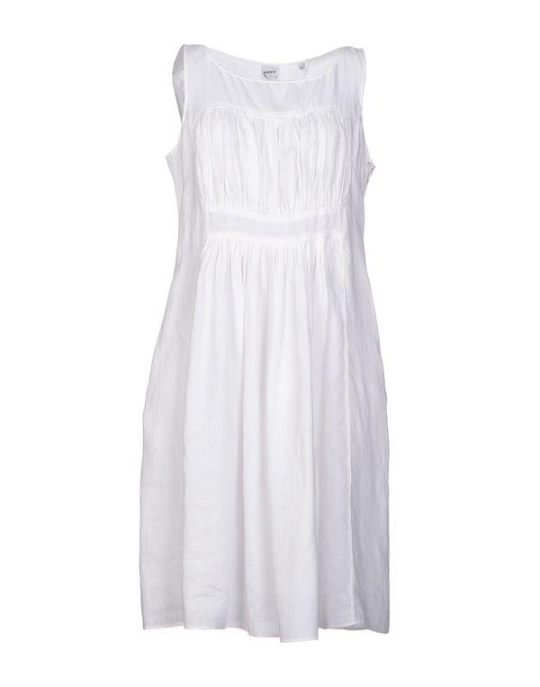 白色 ASPESI 及膝连衣裙