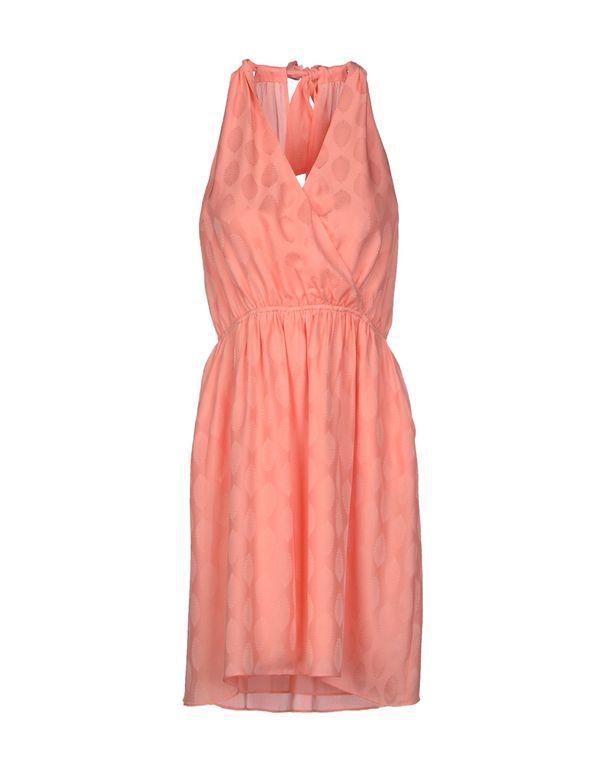 粉红色 PAUL & JOE 短款连衣裙
