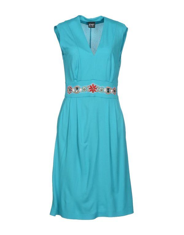 蓝绿色 PF PAOLA FRANI 及膝连衣裙