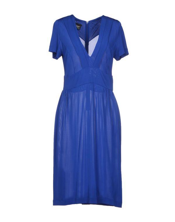 蓝色 PF PAOLA FRANI 及膝连衣裙