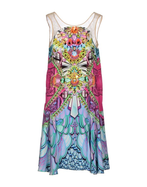 丁香紫 MANISH ARORA 及膝连衣裙