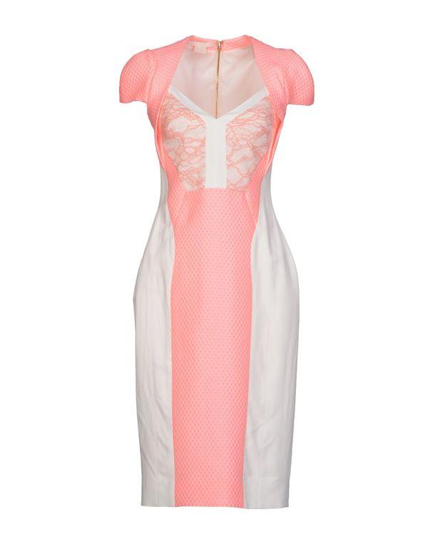 粉红色 ANTONIO BERARDI 及膝连衣裙