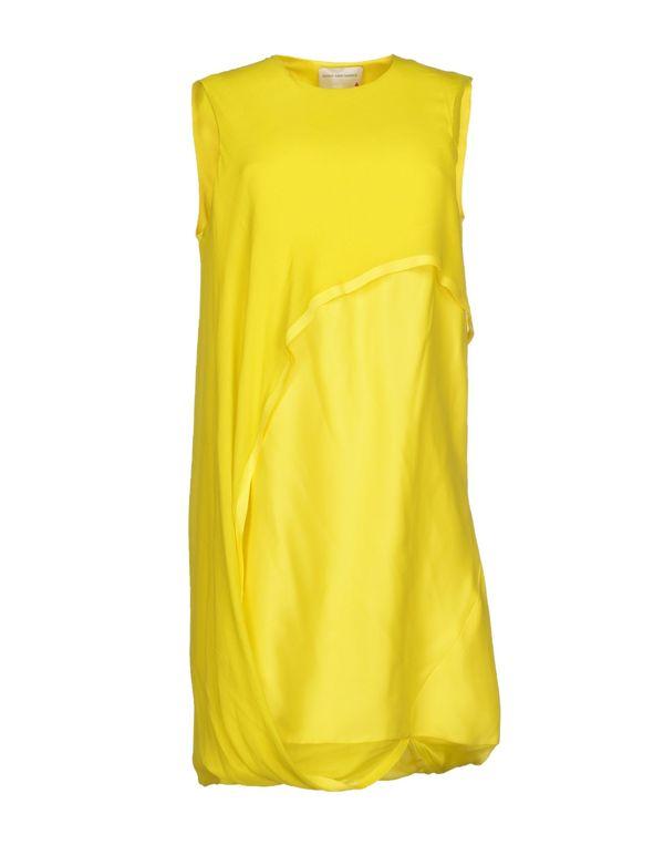 黄色 MAISON RABIH KAYROUZ 短款连衣裙