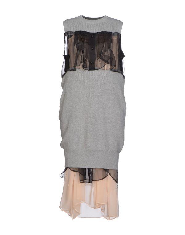 淡灰色 SACAI 中长款连衣裙