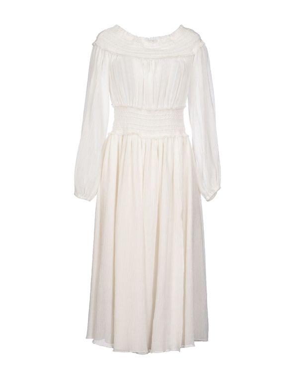 白色 ALTUZARRA 中长款连衣裙