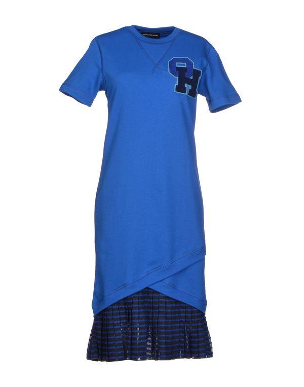 蓝色 OSTWALD HELGASON 及膝连衣裙
