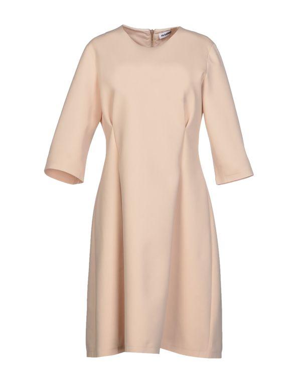 沙色 JIL SANDER 短款连衣裙
