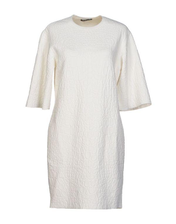 白色 ALEXANDER MCQUEEN 短款连衣裙