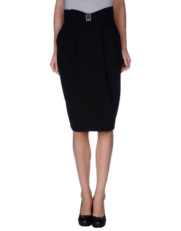 黑色 ELISABETTA FRANCHI 24 ORE 半长裙