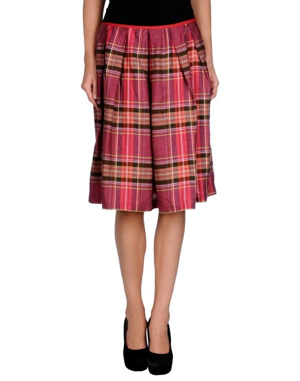 紫红 JUCCA 及膝半裙