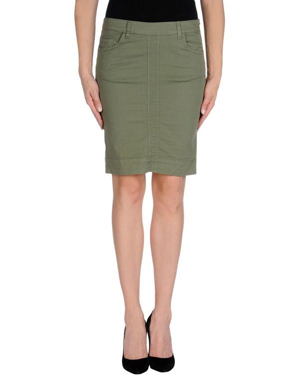 军绿色 TWIN-SET SIMONA BARBIERI 及膝半裙