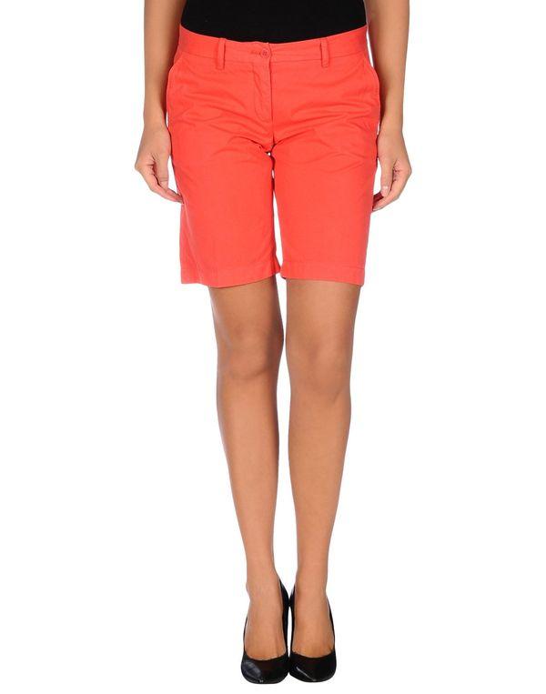 红色 ASPESI 百慕达短裤