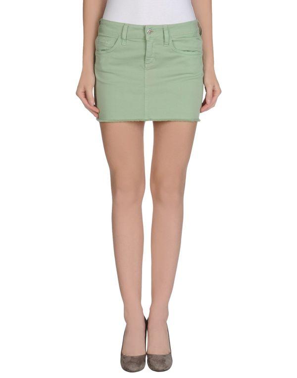 浅绿色 LIU •JO JEANS 超短裙