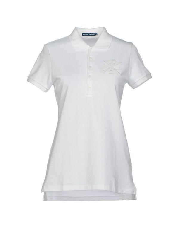 白色 RALPH LAUREN Polo衫