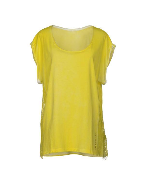黄色 GUESS T-shirt