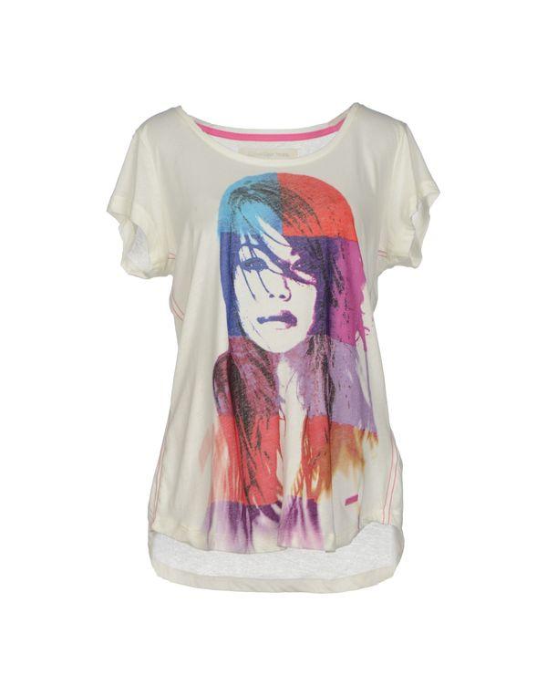 象牙白 CALVIN KLEIN JEANS T-shirt