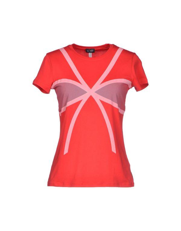 红色 ARMANI JEANS T-shirt