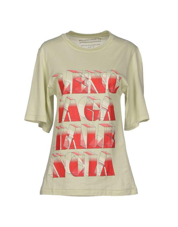 浅绿色 BALENCIAGA T-shirt