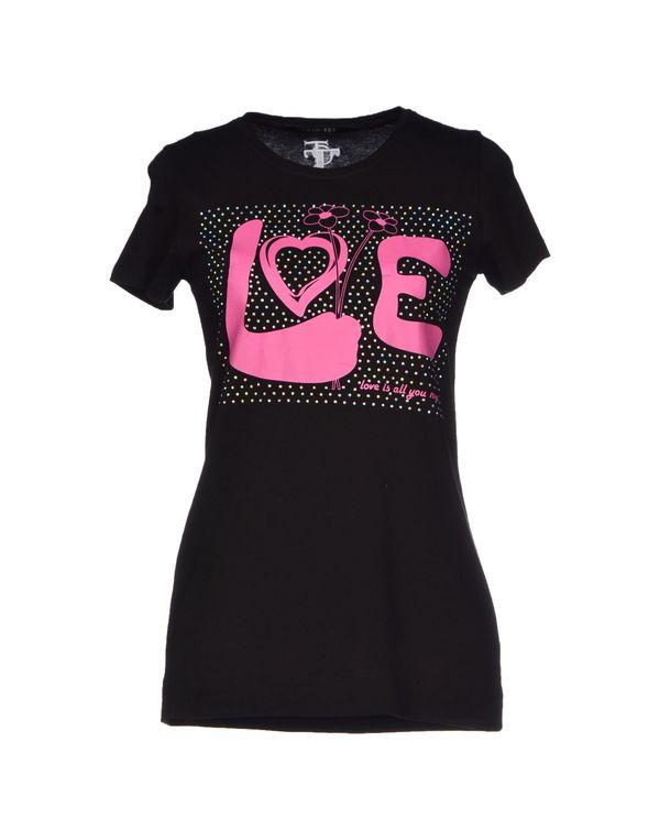黑色 TWIN-SET JEANS T-shirt