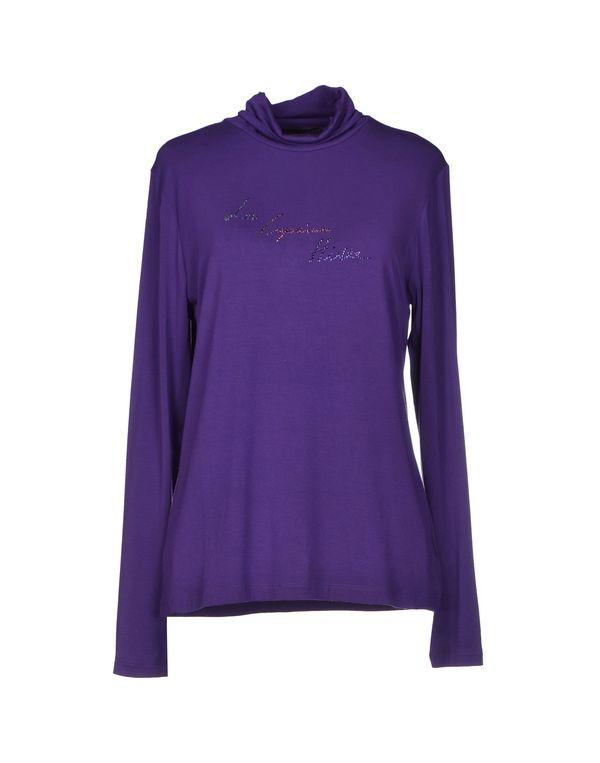 紫色 LES COPAINS T-shirt