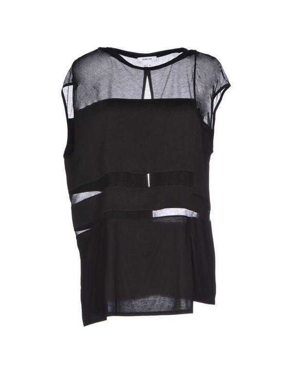 黑色 HELMUT LANG T-shirt