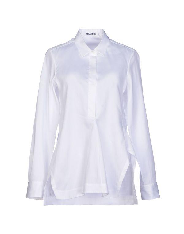 白色 JIL SANDER 女士衬衫