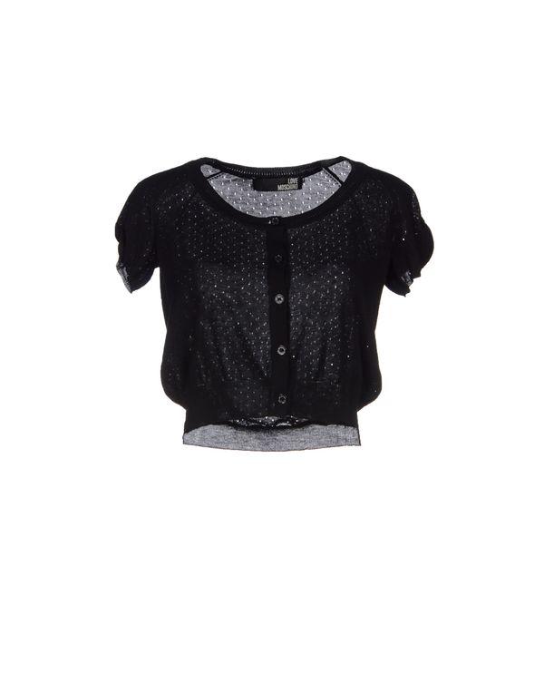 黑色 LOVE MOSCHINO 针织开衫