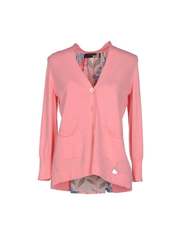 粉红色 LOVE MOSCHINO 针织开衫