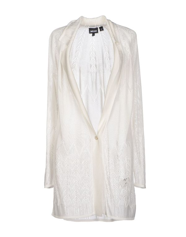 白色 JUST CAVALLI 针织开衫