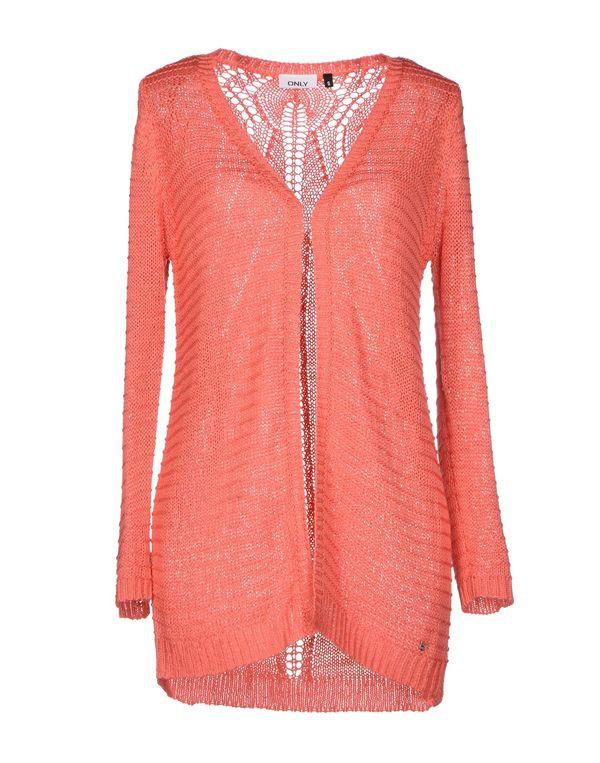珊瑚红 ONLY 针织开衫