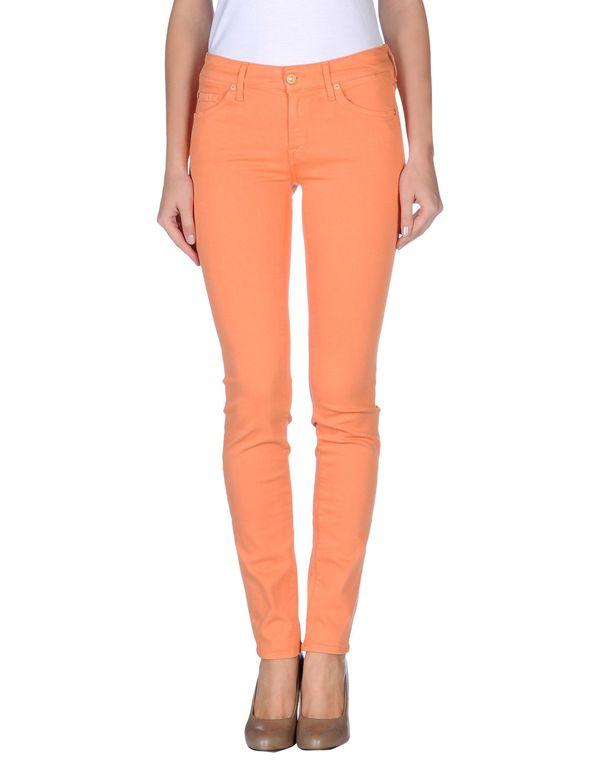 橙色 7 FOR ALL MANKIND 牛仔裤