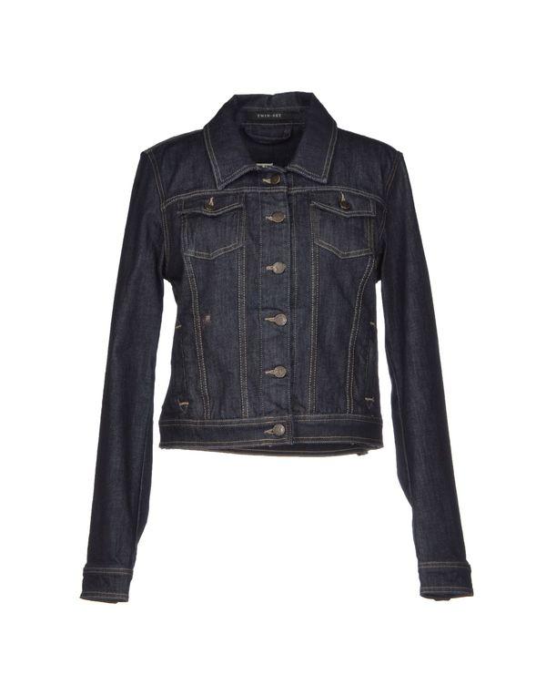 黑色 TWIN-SET JEANS 牛仔外套