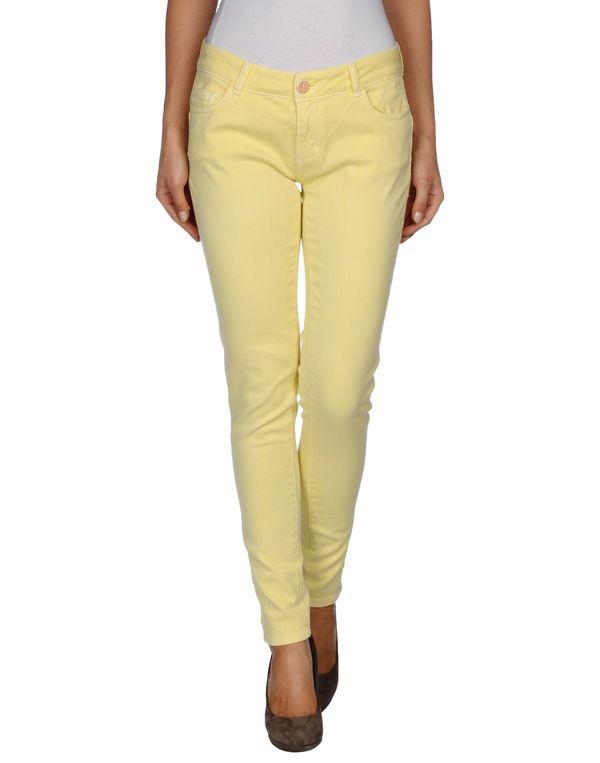 黄色 TWIN-SET JEANS 牛仔裤