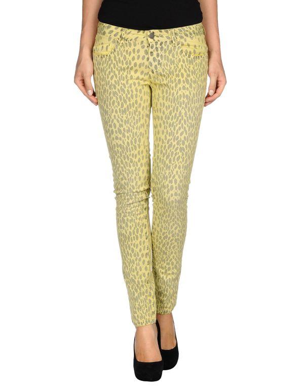 黄色 GOLD CASE 牛仔裤
