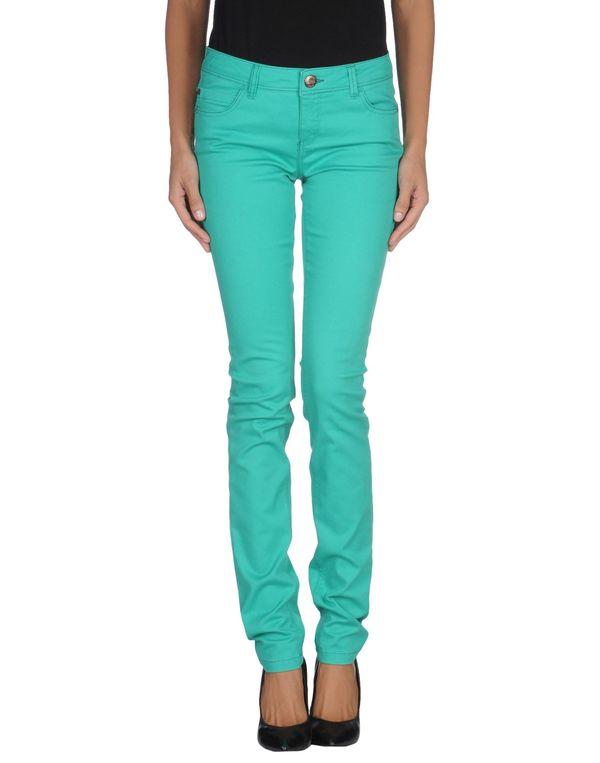 绿色 ONLY 牛仔裤