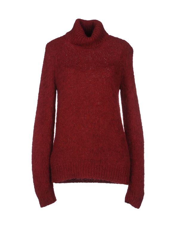 波尔多红 PRADA 圆领针织衫