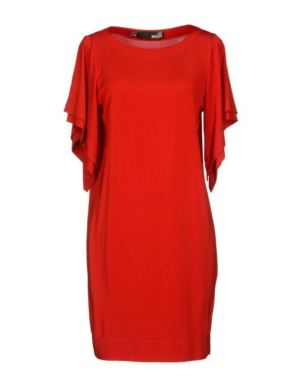 红色 LOVE MOSCHINO 短款连衣裙