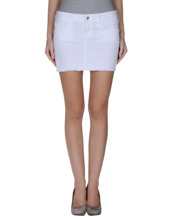 白色 LIU •JO JEANS 超短裙