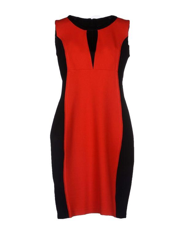 红色 1 ONE 及膝连衣裙