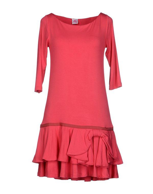 珊瑚红 SCEE BY TWIN-SET 短款连衣裙