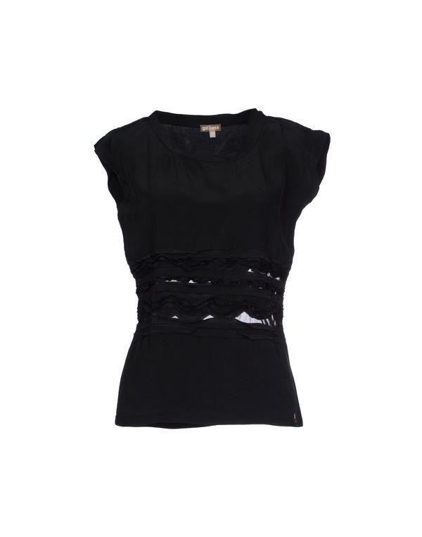 黑色 GALLIANO 女士衬衫
