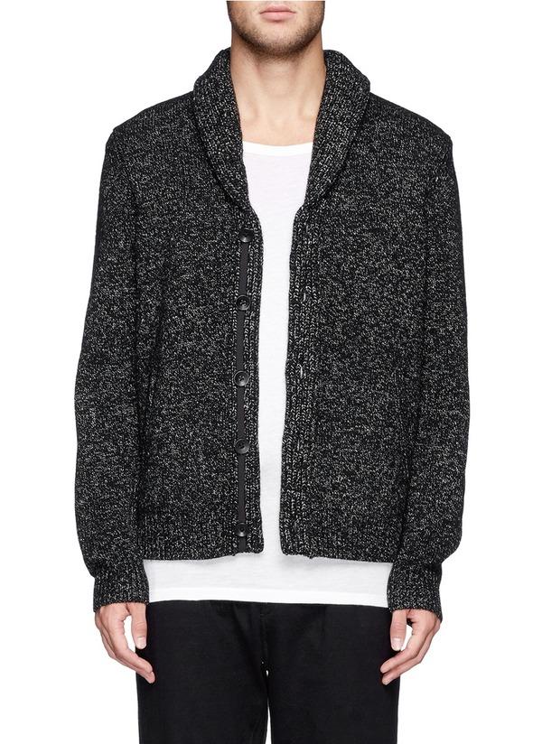 混羊毛针织外套