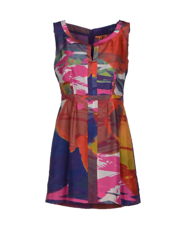 珊瑚红 TORY BURCH 短款连衣裙