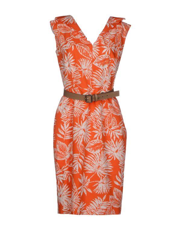 橙色 DIOR 短款连衣裙